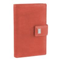 Голям дамски кожен червен портфейл Mano Pecunia, вертикален