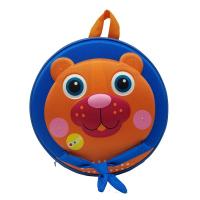 Малка синя кръгла 3D раница за малки деца Oops Мече