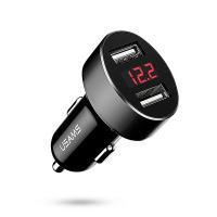 Черно USB зарядно за кола 12V Usams C1 2.1A, Digital Display