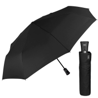 Стилен черен мъжки сгъваем автоматичен чадър Perletti Technology