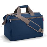 Голяма тъмносиня пътна чанта с голям джоб Reisenthel Allrounder L pocket, dark blue