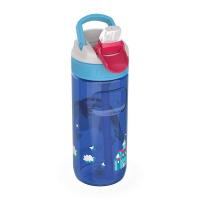 Синя детска спортна бутилка за вода 500мл Kambukka Lagoon, еднорог