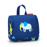Детска чантичка за момче за принадлежности в синьо Reisenthel Toiletbag S kids, abc friends blue