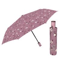 Двойноавтоматичен чадър Perletti Technology на цветя, пепел от рози