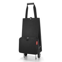 Практична черна сгъваема количка за пазар Reisenthel Foldabletrolley, black