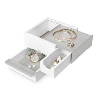 Изискана бяла кутия за бижута и аксесоари Umbra Mini Stowit