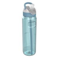 Голяма светлосиня спортна бутилка за вода 1л Kambukka Lagoon, арктическосиньо