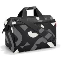 Голяма черна пътна чанта Reisenthel Allrounder L pocket, Signature bold grey