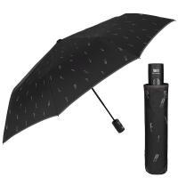 Мъжки черен сгъваем чадър Perletti Technology