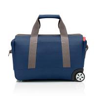 Удобна малка синя пътна чанта Reisenthel allrounder trolley, dark blue 30 литра