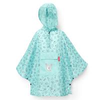Детски дъждобран пончо в калъфче Reisenthel Mini maxi poncho M, kids cats and dogs mint