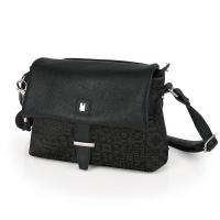 Стилна черна дамска чанта Gabol Moon