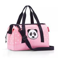 Малка детска пътна чанта Reisenthel Allrounder XS, Panda dots pink