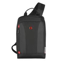 Малка черна раница с една диагонална презрамка Wenger Monosling Shoulder Bag