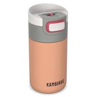 Малка удобна термочаша за напитки в цвят пъпеш Kambukka Etna 300мл