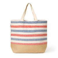 Голяма плажна чанта HatYou в синьо и червено