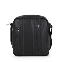 Стилна черна мъжка чанта за през рамо Gabol Desert, еко кожа