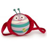 Малка детска 3D чанта за през рамо Oops Калинка в червено