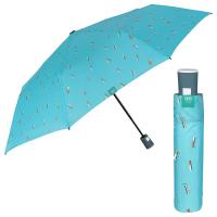 Дамски чадър в цвят тюркоаз с автоматично отваряне Perletti Time