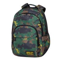 Ученическа раница камуфлаж CoolPack Basic Plus - Military Jungle, зелена