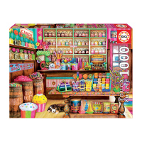 Пъзел 1000 части с градски пейзаж Educa Магазин за бонбони
