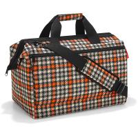 Голяма пътна чанта с голям джоб Reisenthel Allrounder L pocket, glencheck red