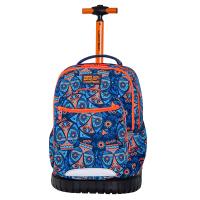 Раница на колела за училище в синьо и оранжево CoolPack Swift - Aztec Blue