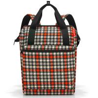 Раница и пътна чанта на каре Reisenthel Allrounder R Large, Glencheck red
