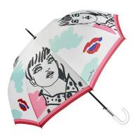 Луксозен черен дамски чадър тип бастун Maison Perletti