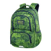 Зелена раница за училище с дизайн - отпечатъци CoolPack Spiner Termic - Isogreen