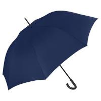 Голям син мъжки цял чадър с извита дръжка Perletti Technology