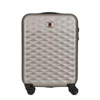 Сребрист малък куфар 55см Wenger Lumen Hardside Luggage 20'' Carry-On Aluminum