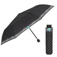Черен дамски чадър на точки Perletti Time