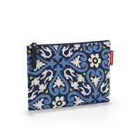 Малко дамско синьо несесерче за гримове с флорални елементи Reisenthel Case 1, floral 1