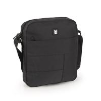 Удобна черна мъжка чанта за през рамо Gabol Kendo, 21см