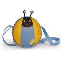 Малка детска 3D чанта за през рамо Oops Охлюв в светлосиньо и жълто