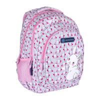 Розова раница със зайче за училище с три отделения AB330 Astrabag Sweet Bunny, момиче