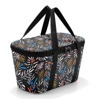 Малка черна термо чанта Reisenthel Coolerbag XS с дизайн на шарени листа, Autumn 1