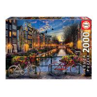 Голям пъзел от 2000 части Educa Амстердам