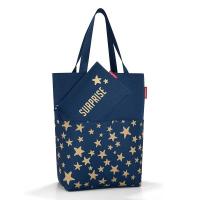 Стилна чанта за пазар Reisenthel Cityshopper 2, X-mas в тъмносин цвят с дизайн на звезди
